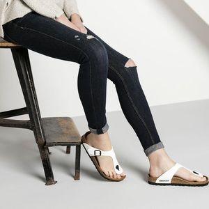 🆕 Birkenstock white sandal slides flip-flops- 37
